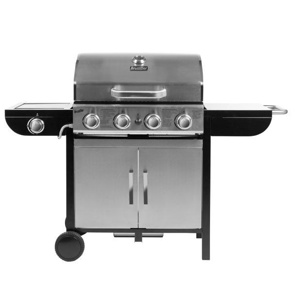 Gasgrill 4 in 1, silber